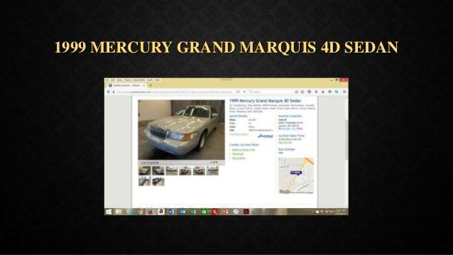 1999 MERCURY GRAND MARQUIS 4D SEDAN