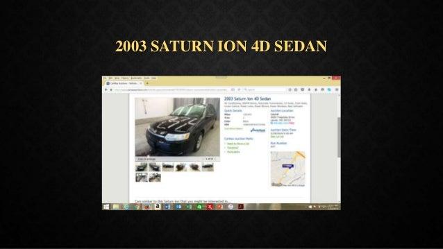 2003 SATURN ION 4D SEDAN