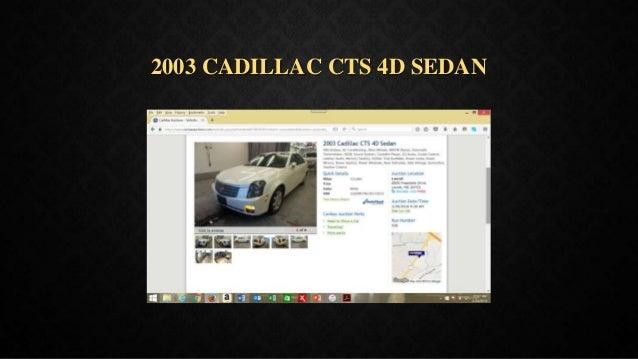 2003 CADILLAC CTS 4D SEDAN