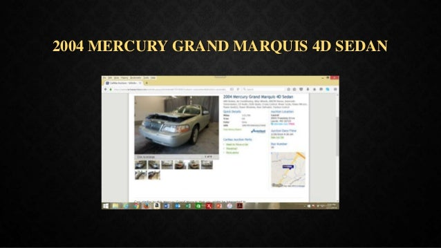 2004 MERCURY GRAND MARQUIS 4D SEDAN