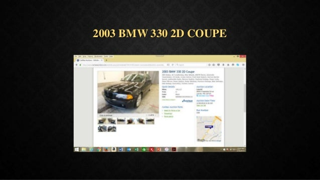 2003 BMW 330 2D COUPE
