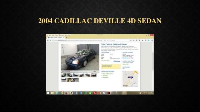 2004 CADILLAC DEVILLE 4D SEDAN