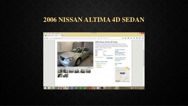 2006 NISSAN ALTIMA 4D SEDAN