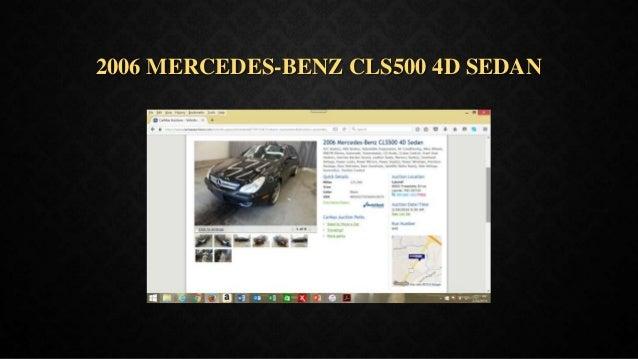 2006 MERCEDES-BENZ CLS500 4D SEDAN