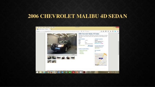 2006 CHEVROLET MALIBU 4D SEDAN