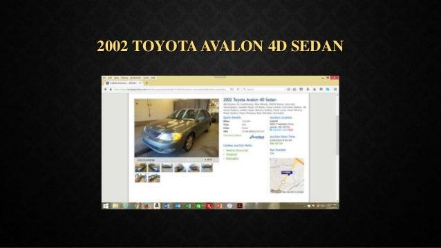2002 TOYOTAAVALON 4D SEDAN