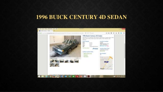 1996 BUICK CENTURY 4D SEDAN