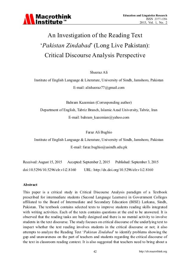 Education and Linguistics Research ISSN 2377-1356 2015, Vol. 1, No. 2 http://elr.macrothink.org42 An Investigation of the ...