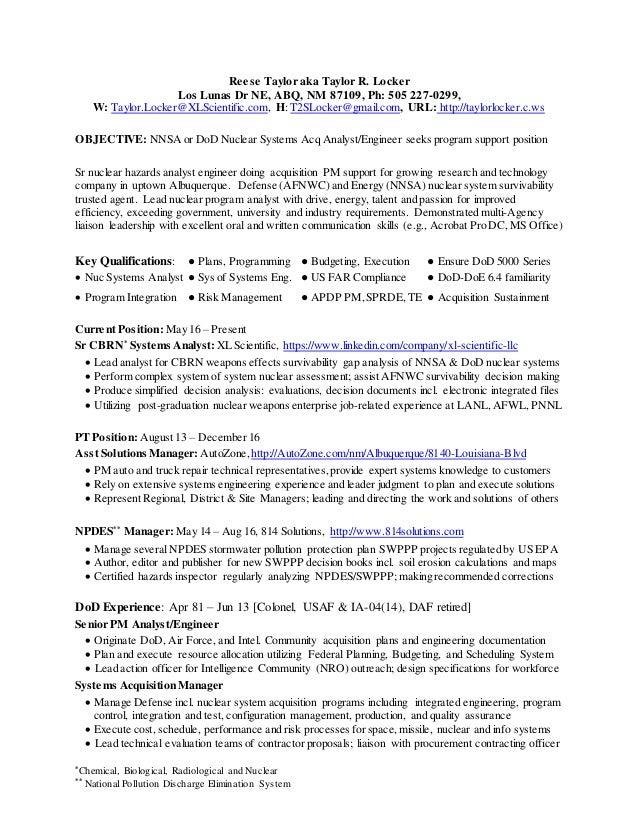 Sr Nuclear Surety Analyst Engineer Support CV Feb - Surety maps