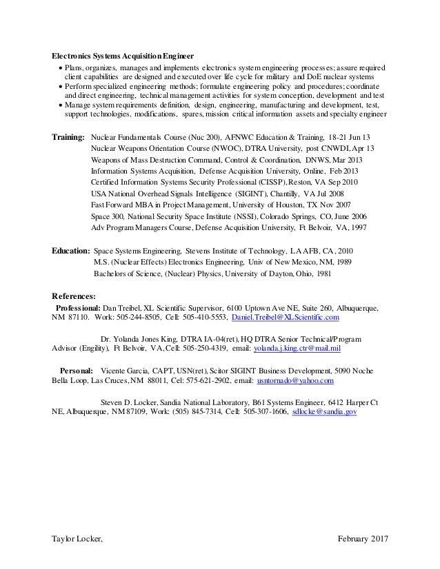 sr nuclear surety analyst engineer support cv