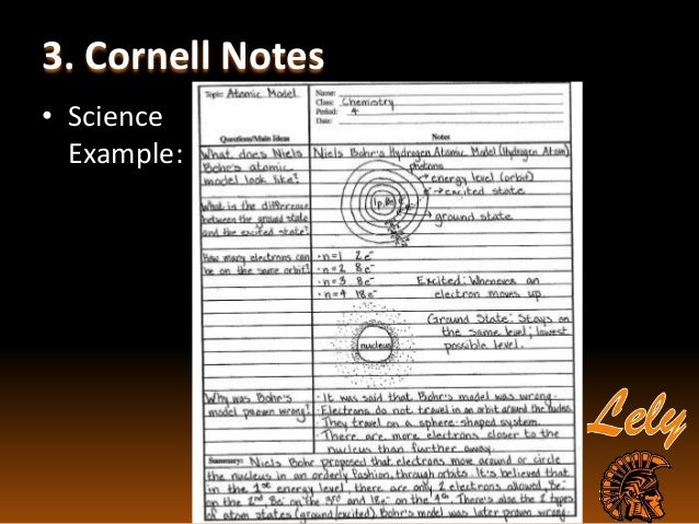 Sample Cornell Note Note Taking Sample Erin Dauerers Portfolio Note