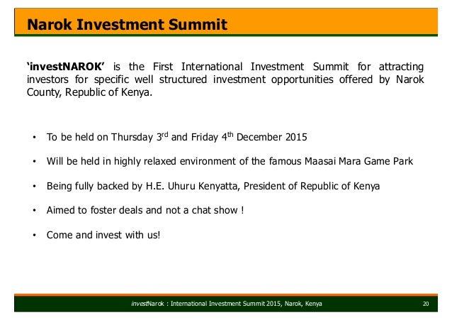 narok county investment summit