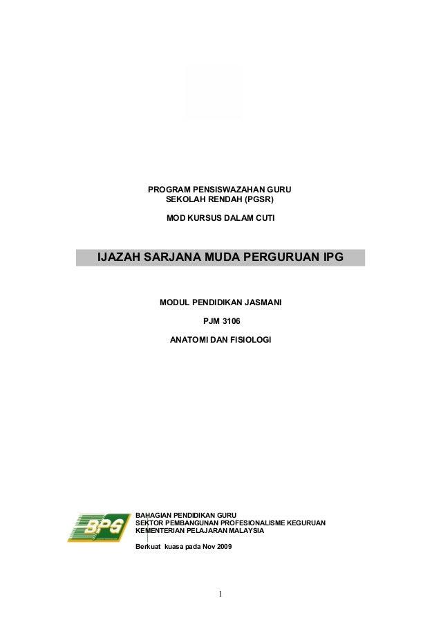 PROGRAM PENSISWAZAHAN GURU           SEKOLAH RENDAH (PGSR)             MOD KURSUS DALAM CUTIIJAZAH SARJANA MUDA PERGURUAN ...