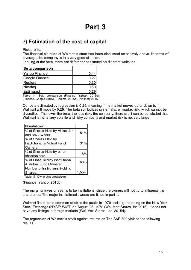 WalmartFinancial Analysisfinal Version - Create invoice google docs walmart store online