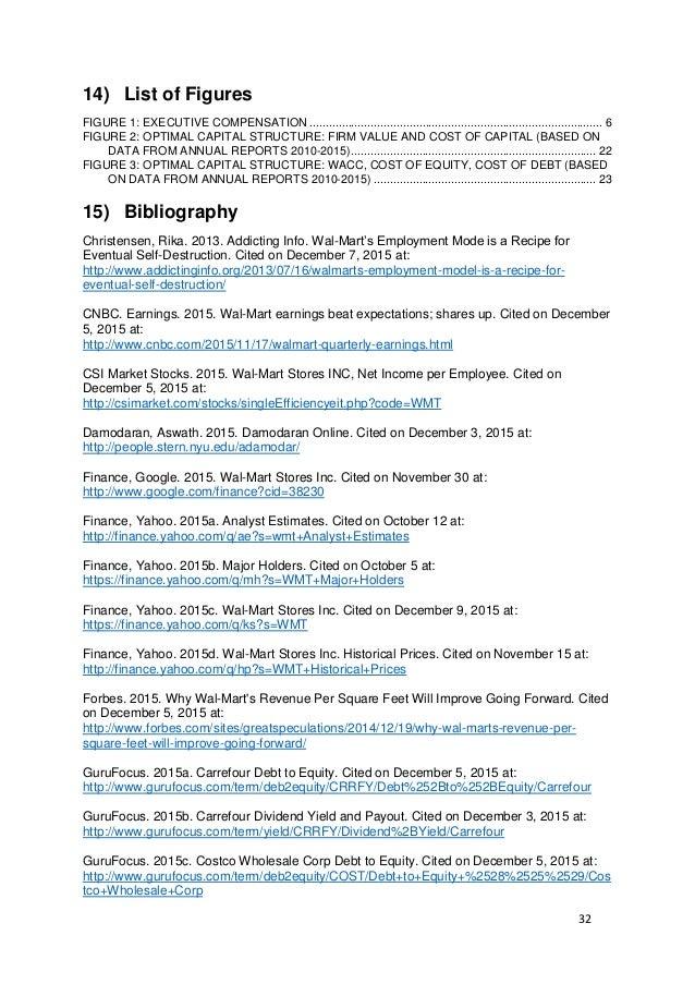 walmart financial analysis final version rh slideshare net Glencoe Algebra 1 2014 9.3 Study Guide