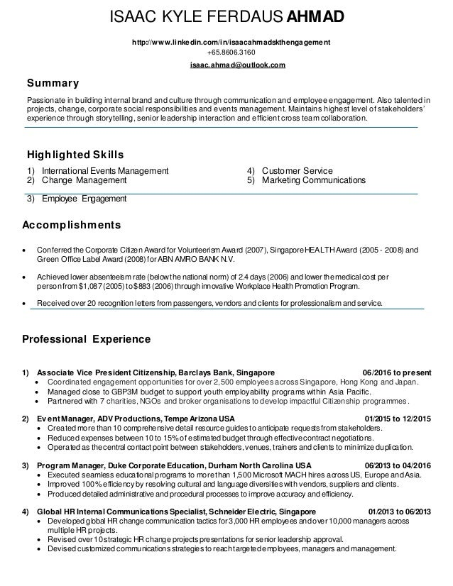 vp corporate communication resume creative writing classes hong