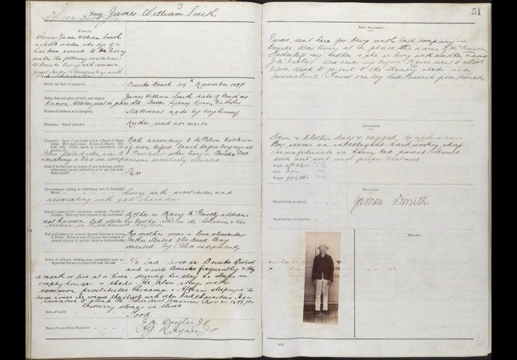 Nautical School Ship Sobraon; Entrance books, 1897-1911. Entry for James William Smith