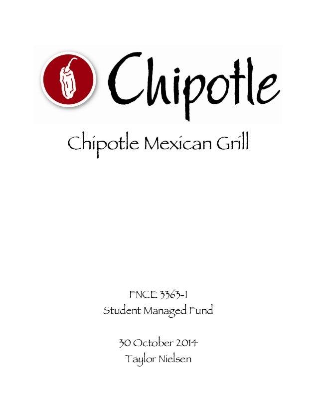 Final Chipotle Report