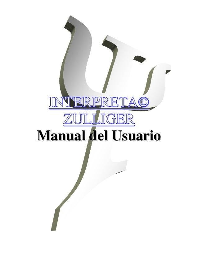 INTERPRETA©   ZULLIGERManual del Usuario