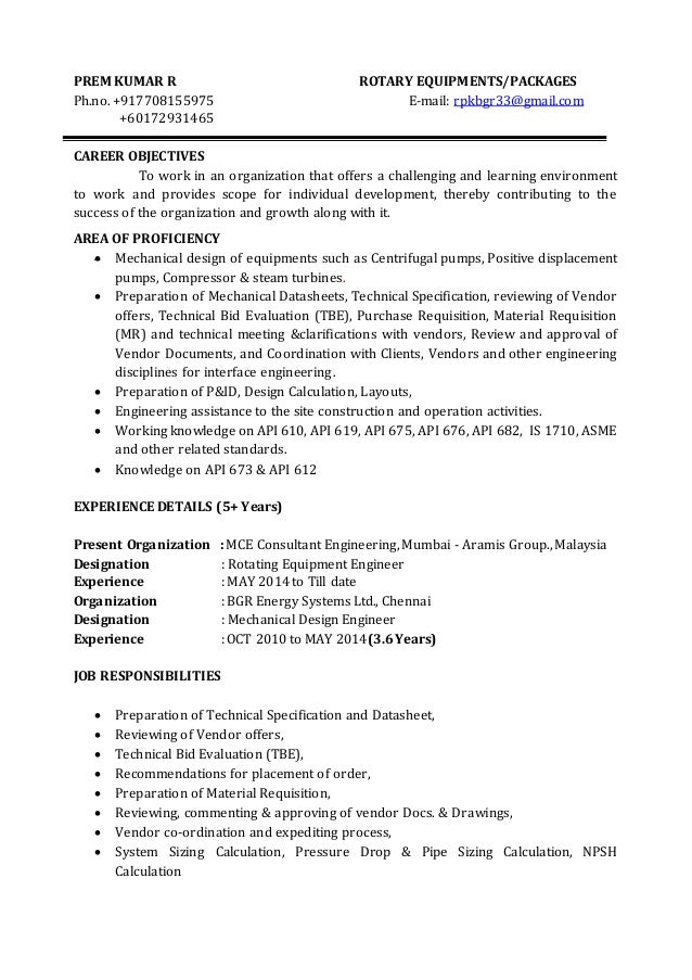 Rotating Equipment Engineer