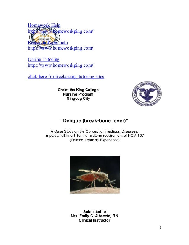 case study dengue fever Making the business case for the dengue what is needed is a sustainable business case for in countries where dengue fever is endemic in phase 3 studies.