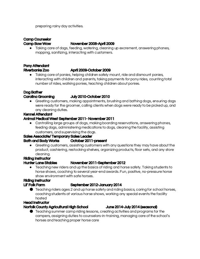 dog groomer resume resume ideas