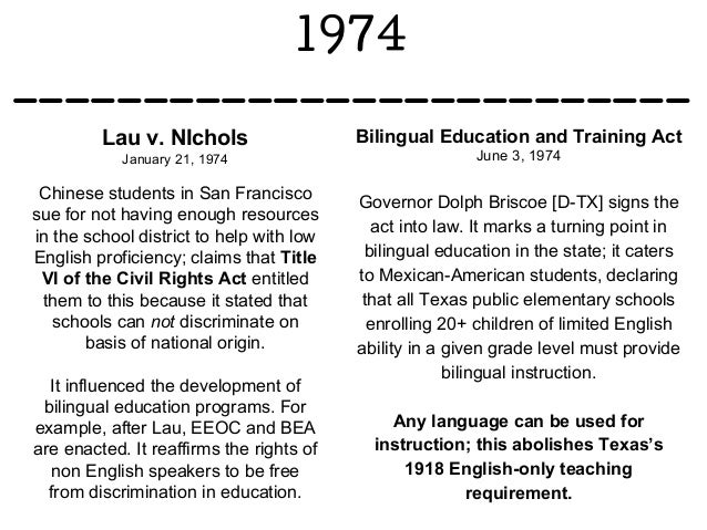 an overview of bilingual education in america The importance of bilingual education in america first off, it's important to understand the difference between learning and education learning is the ability of an individual's brain to acquire and retain information for a lifetime, whereas education is an aide to further strengthen a student's learning capacity with the use of resources: teachers.