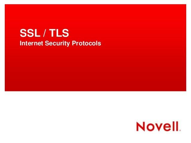 SSL / TLS Internet Security Protocols
