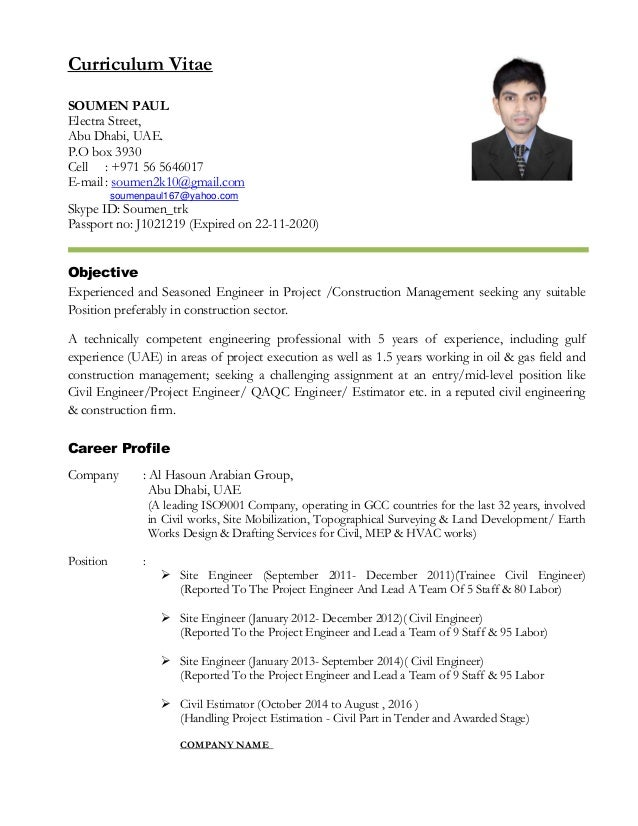 soumen paul update cv