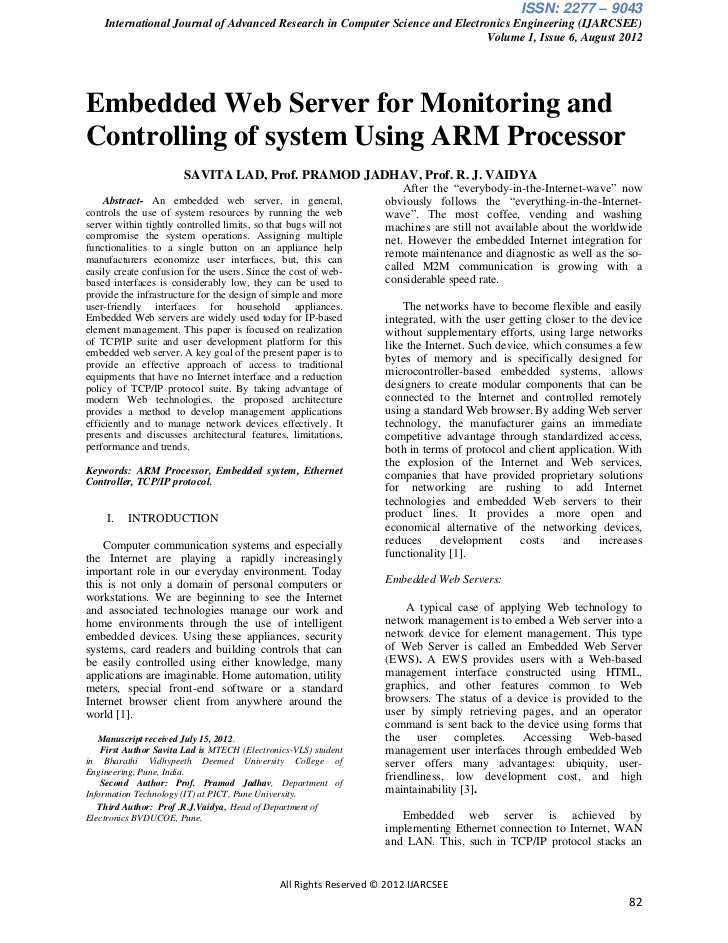 ISSN: 2277 – 9043    International Journal of Advanced Research in Computer Science and Electronics Engineering (IJARCSEE)...