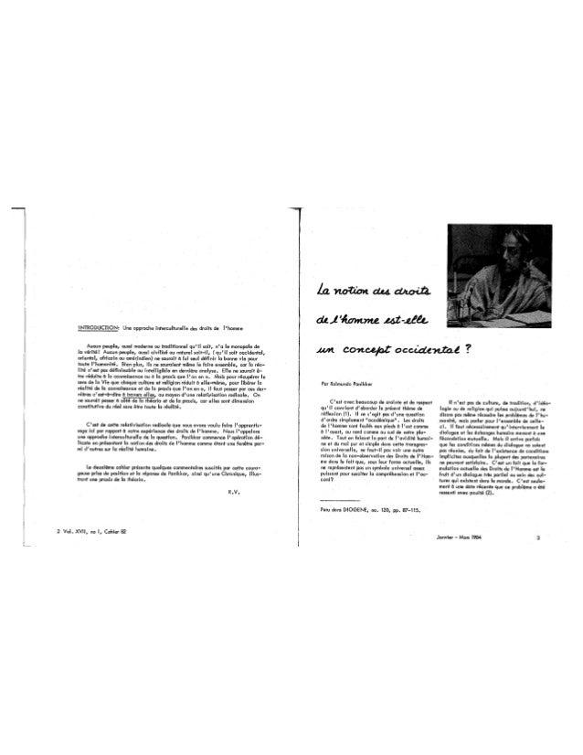 82 droits de l'homme, concept occidental ? - cahier i, r. vachon, r. panikkar, g. baum,, h. berman, m. chiba, d. goulet, e. le roy, j. mohawk. (textes fr. et angl.). (document à télécharger en format pdf, 2,1 mb). Slide 3