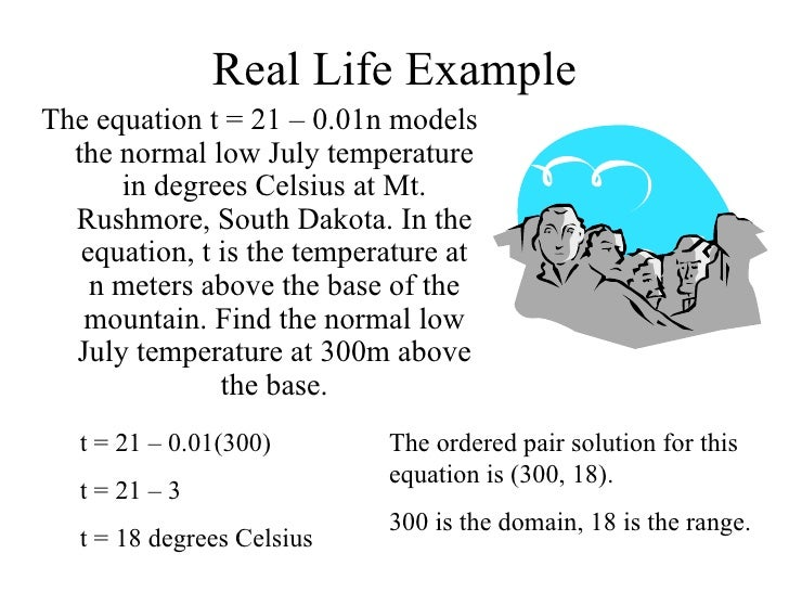 linear equations in the real world Real world problems: how to write equations based on algebra word problems i know that you often sit in class and wonder, why am i forced to learn about equations.