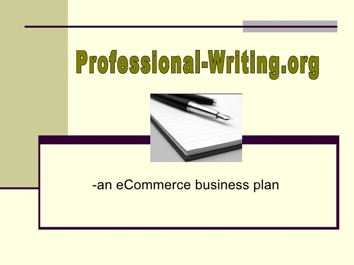 -an eCommerce business plan Professional-Writing.org