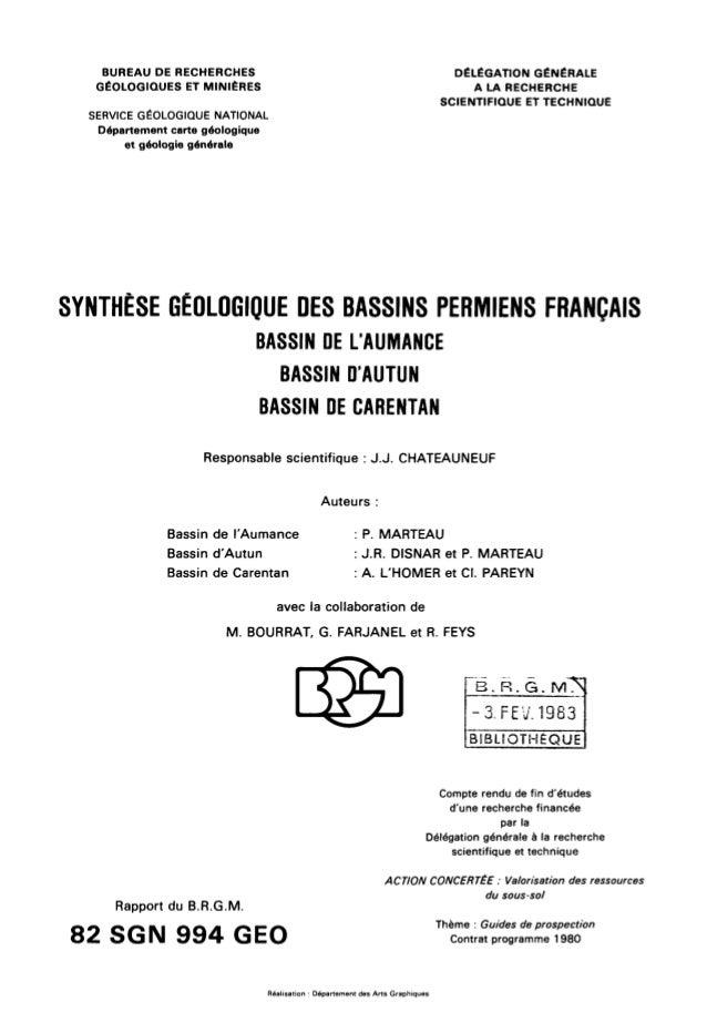 82 sgn 994 geo - Bureau de recherches geologiques et minieres ...