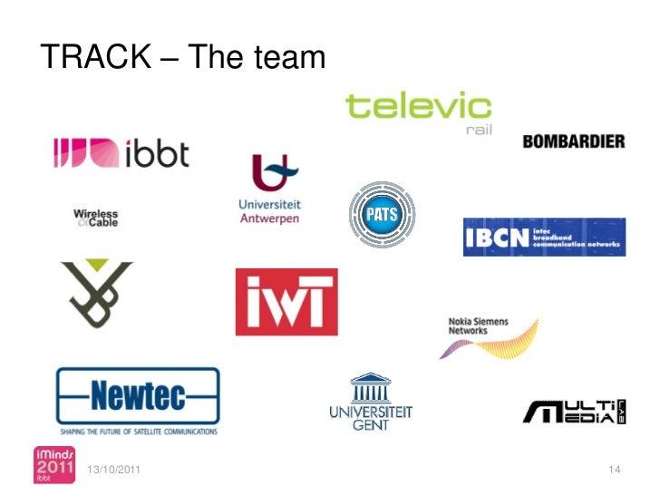 TRACK – The team  13/10/2011   confidential   14