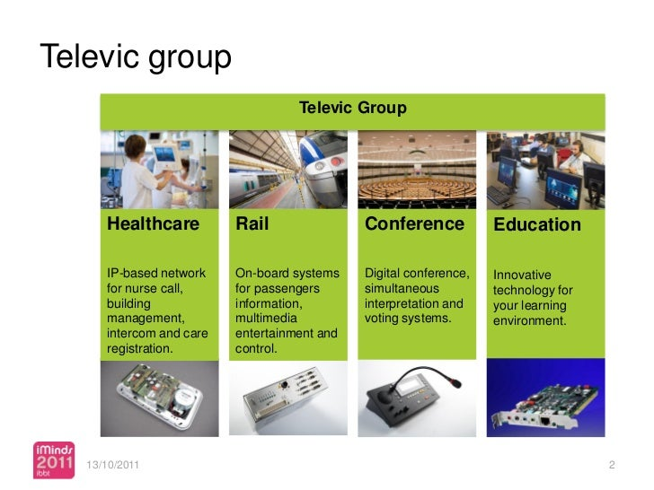 Televic group                                    Televic Group      Healthcare          Rail                Conference    ...