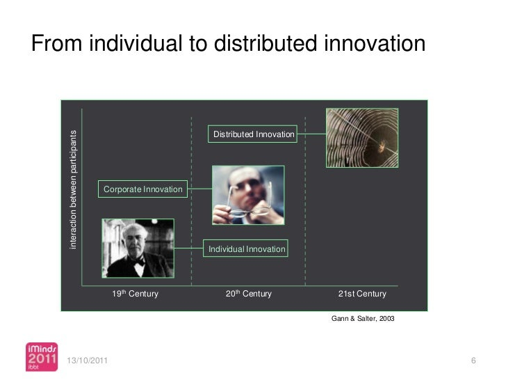 From individual to distributed innovation    interaction between participants                                             ...