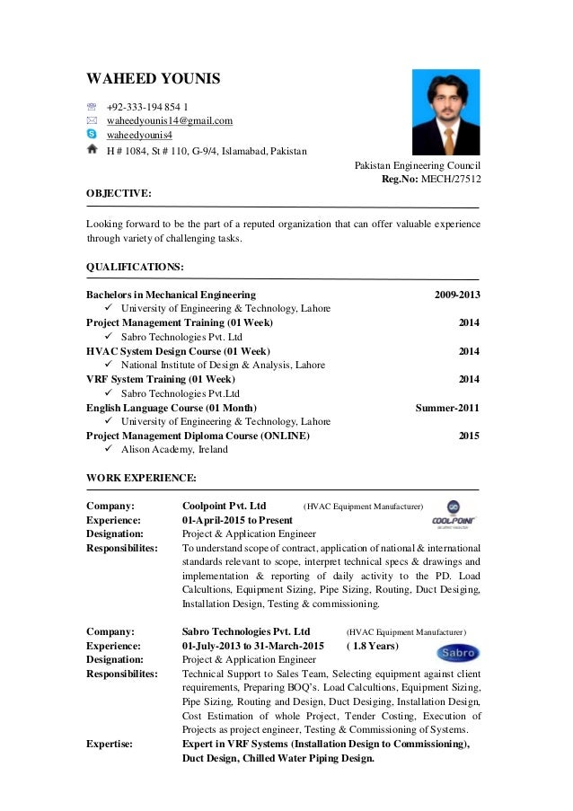 Hvac Design Engineer Resume Doc