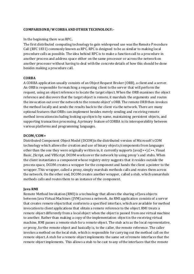Dassault Enovia, a Case Study of CORBA