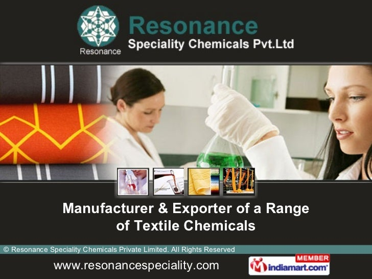 Manufacturer & Exporter of a Range of Textile Chemicals
