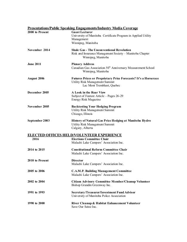 brent sanderson resume cv november 2016