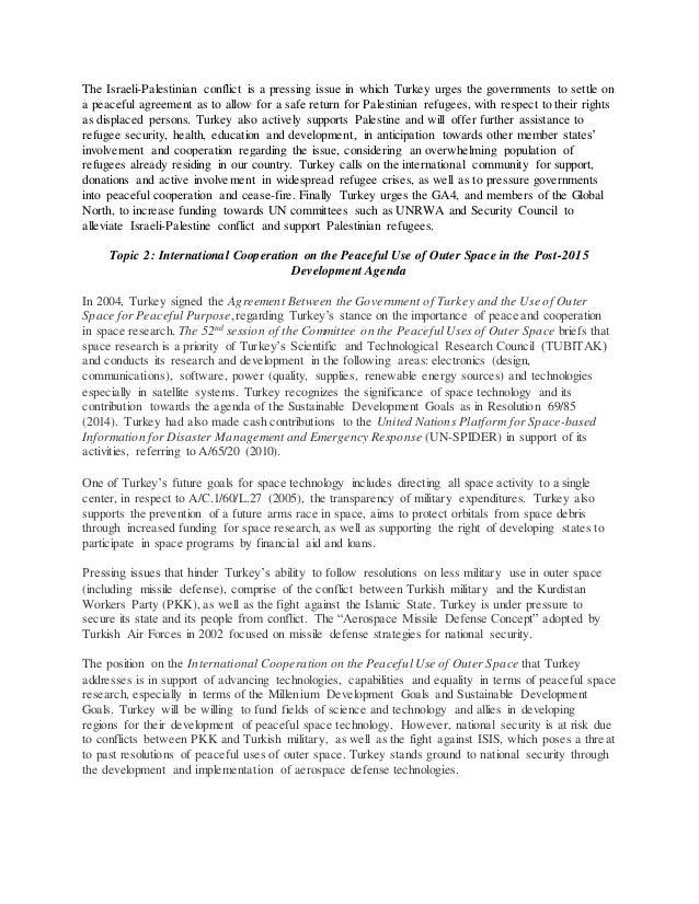 mun speech on israel palestine conflict