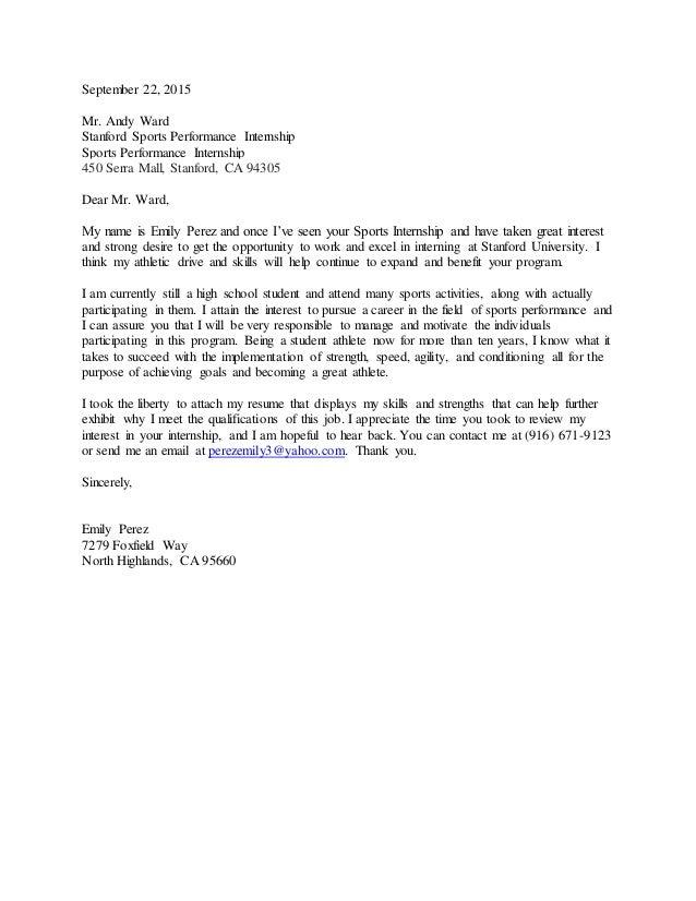 September 22 Cover Letter