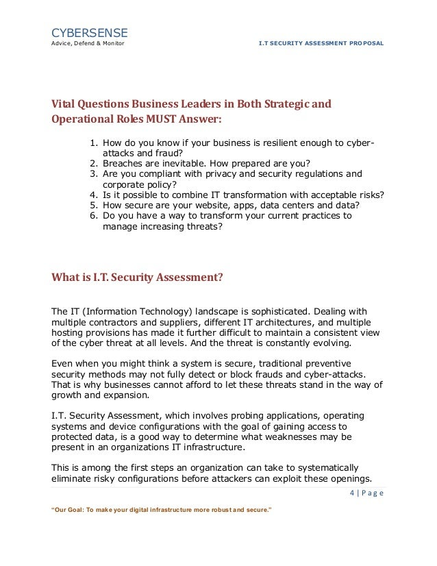 It Security Assessment Proposal