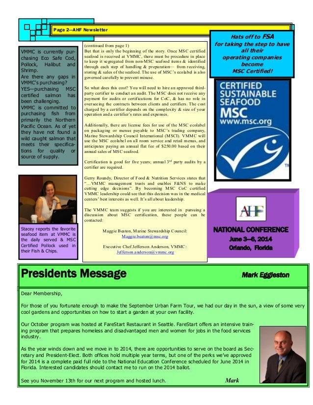 AHF Newsletter October 2013 Slide 2