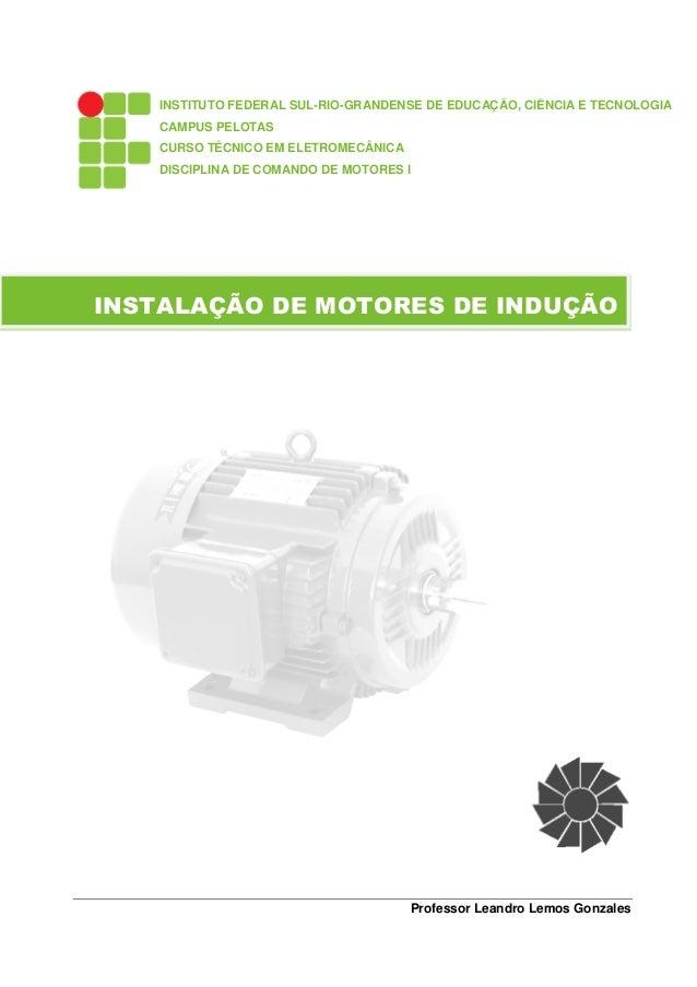 INSTITUTO FEDERAL SUL-RIO-GRANDENSE DE EDUCAÇÃO, CIÊNCIA E TECNOLOGIA    CAMPUS PELOTAS    CURSO TÉCNICO EM ELETROMECÂNICA...
