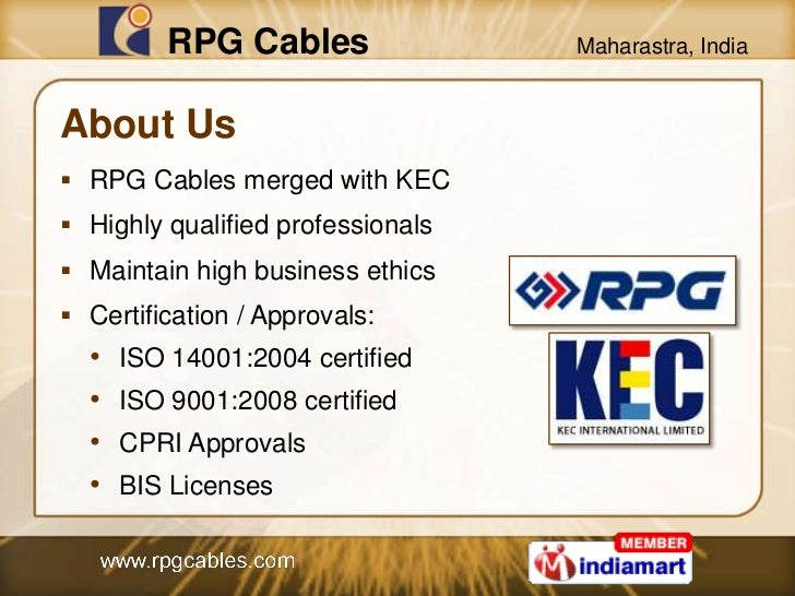 power cables by rpg cables a division of kec