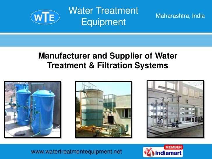 Manufacturer and Supplier of Water Treatment & Filtration Systems <br />