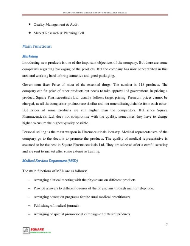 internship report of incepta pharmaceuticals ltd This is my great honor to submit the internship report that i have prepared  local and mnc's are square, incepta pharma, beximco, opsonin.