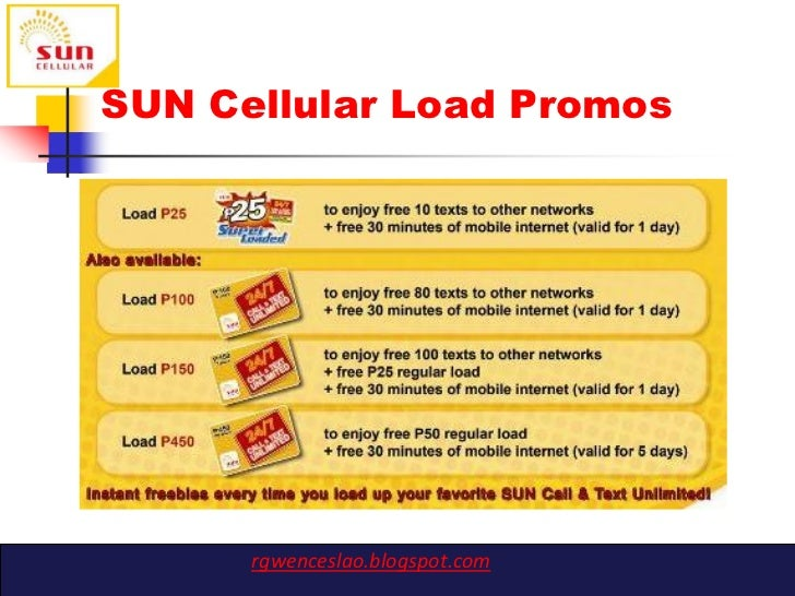marketing plan on sun cellular prepaid Sun offers a wide range of service innovations for mobile telephony from voice, messaging and international roaming services, to wireless broadband and value- added services for consumers and businesses alike.